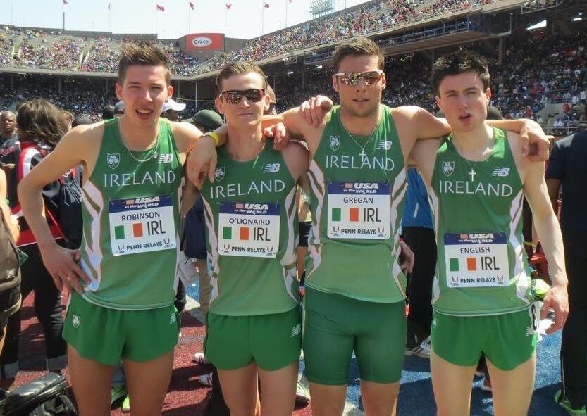 Irish team Penn Relays